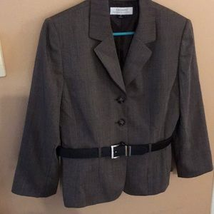 Like New Tahari ASL Belted Blazer 14 L XL Belt